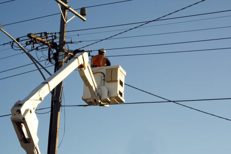 Man Fixing Electrical Damage
